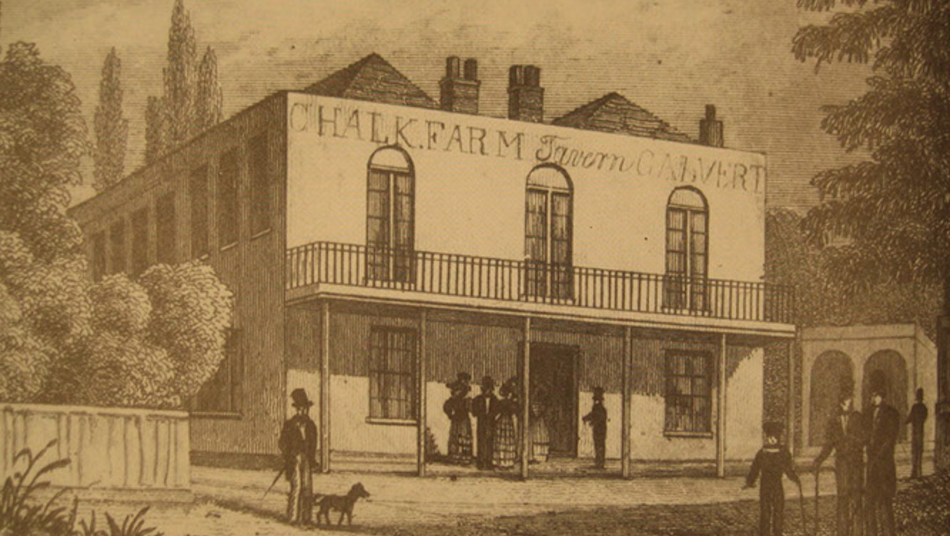 Chalk Farm Tavern c.1830. Click to enlarge.