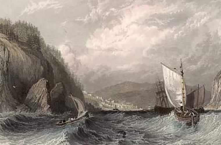 Cromarty Bay from the east, c.1830s, by Thomas Allom, lithograph by George Virtue         & Co, London
