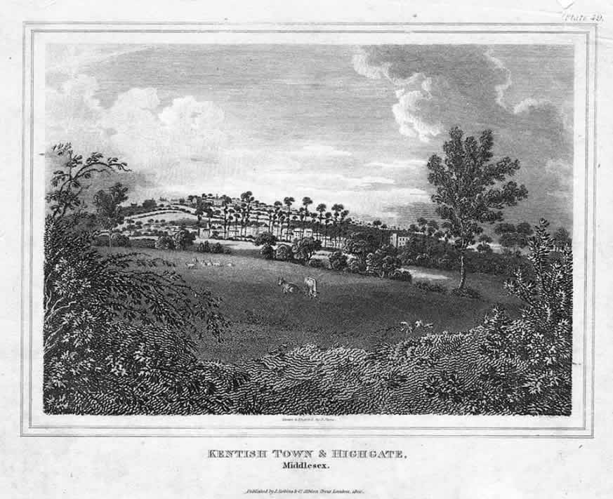 Kentish Town & Highgate, 1820
