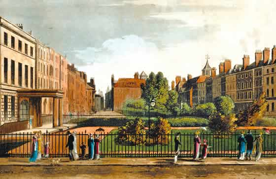 Queen Square, London, c.1812