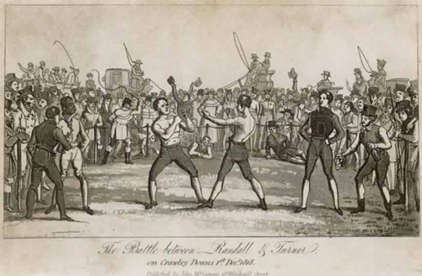The fight between Randall and Turner, Crawley Downs