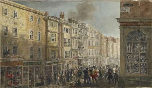 The Strand from Villiers Street, c.1824, by George Scharf, British Museum         (1862,0614.19)