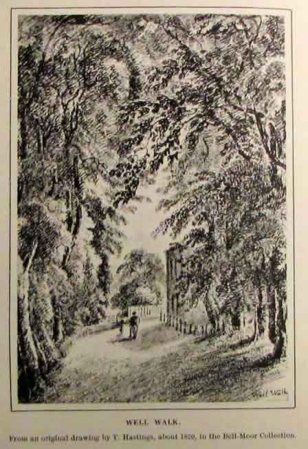 Well Walk, c.1820. Click to enlarge.