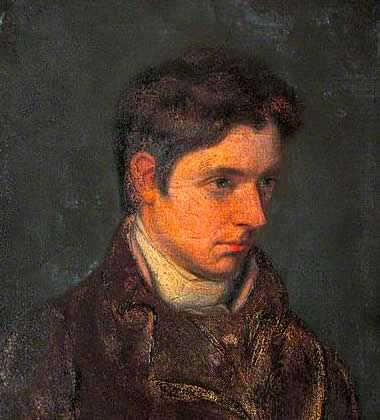 William Hazlitt, painted by his brother, John (Maidstone Museum & Bentlif Art         Gallery; date unknown). Click to enlarge.