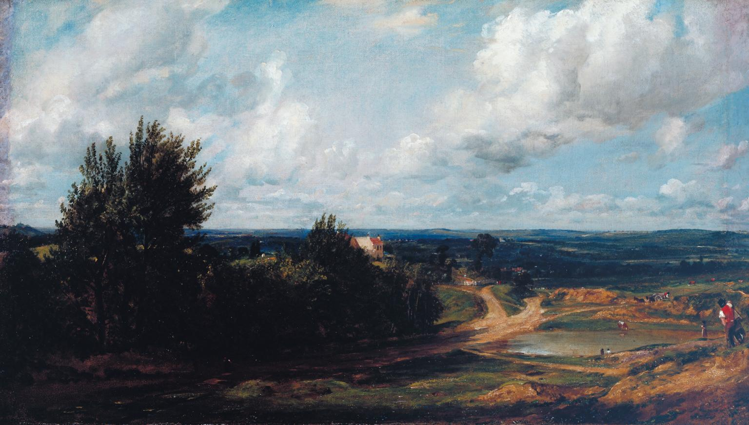 John Constable: Hampstead Heath, with the House Called 'The Salt Box' (Tate         Gallery N01236). Click to enlarge.