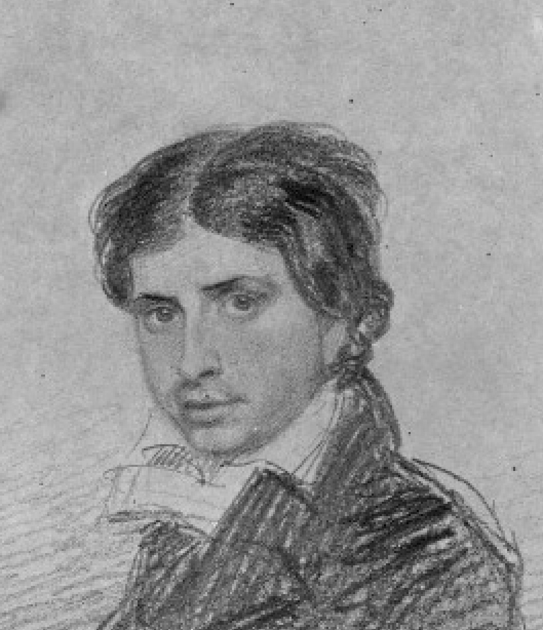 Leigh Hunt, pencil sketch by Thomas Charles Wageman, 1815 (National Portrait         Gallery, NPG 4505)