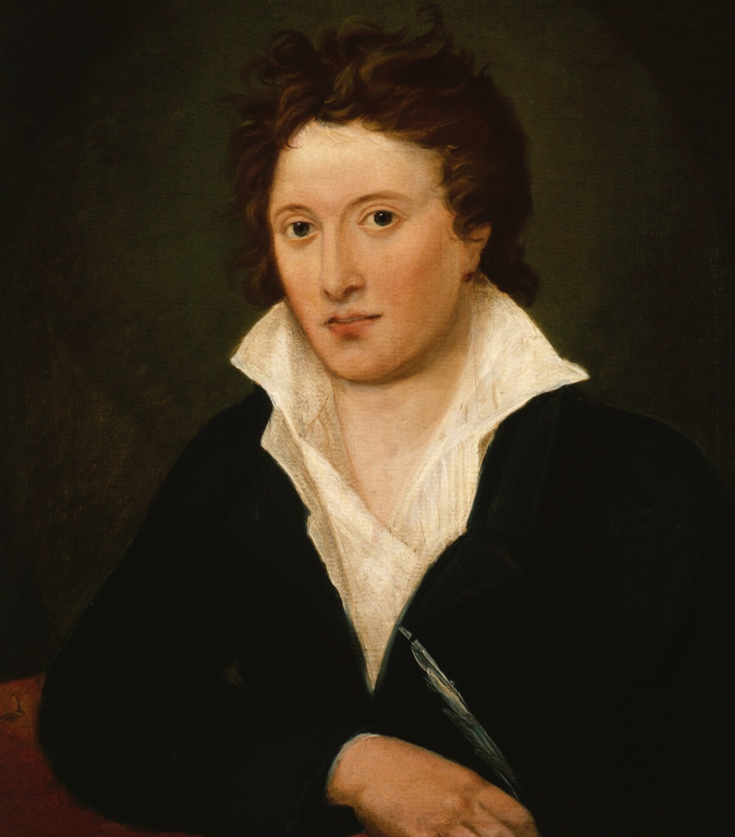 Percy Bysshe Shelley, 1819, by Amelia Curran (National Portrait Gallery, NPG         1234). Click to enlarge.