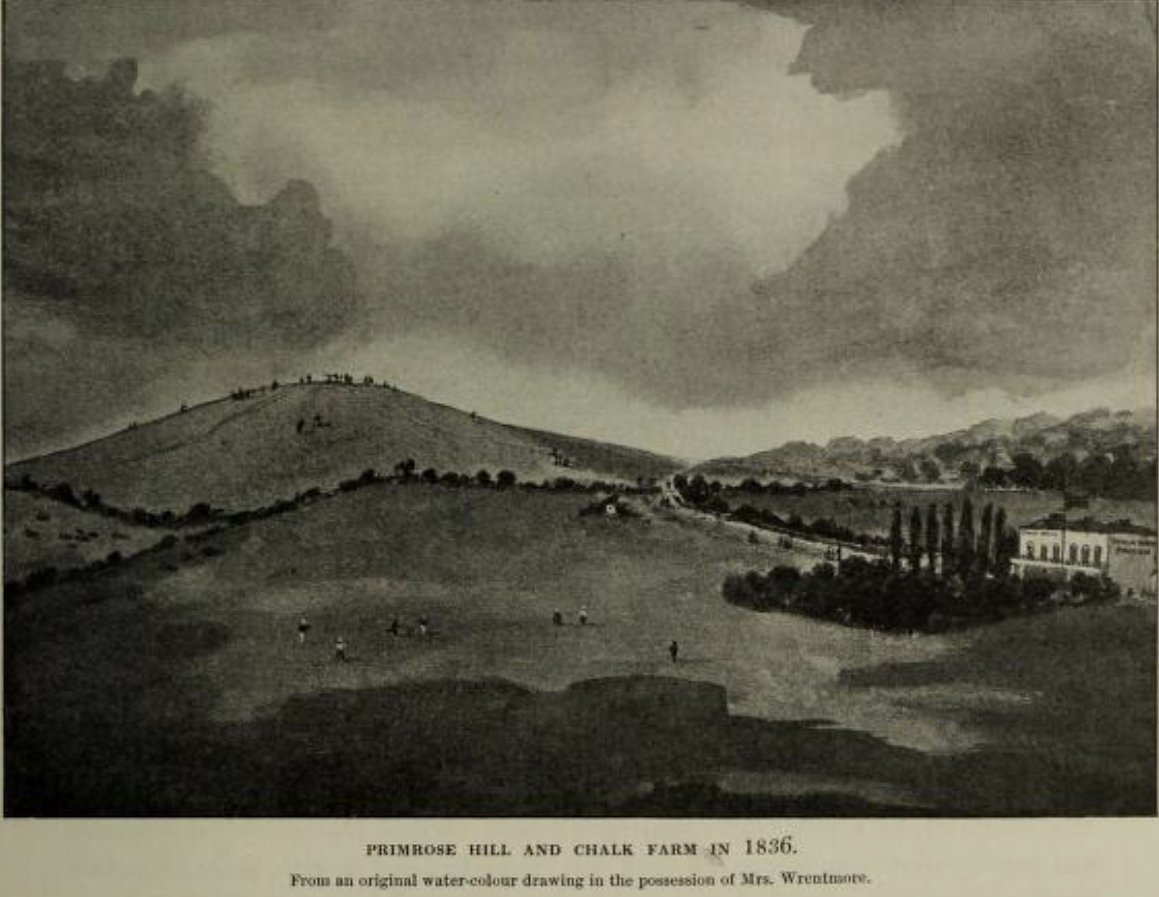 Primrose Hill and Chalk Farm in 1836. Click to enlarge.