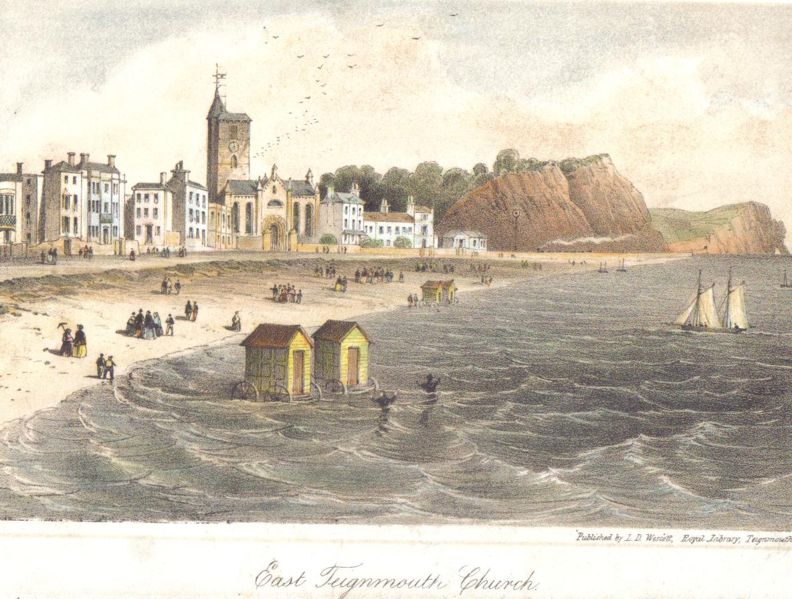 Teignmouth, early nineteenth century. Click to enlarge.