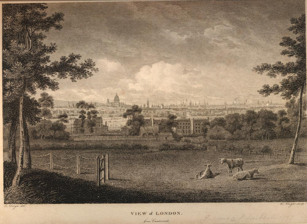 View of London, 1797. Click to enlarge.