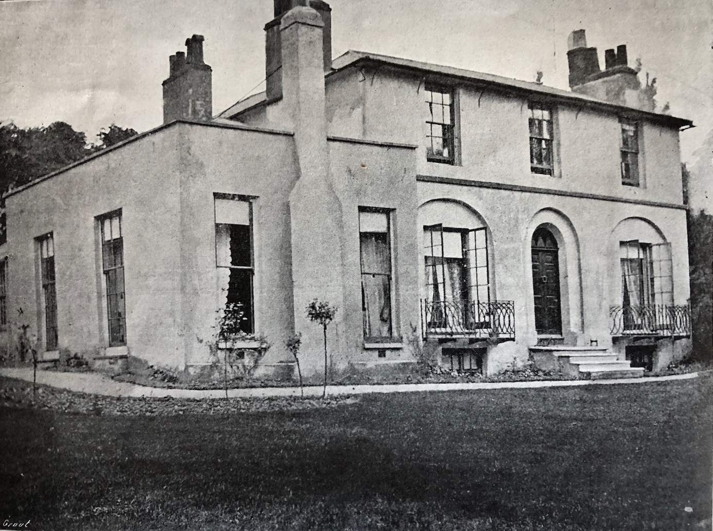Wentworth Place, from a photograph supplied by H. Buxton Forman to the         Keats-Shelley Memorial Souvenir, 1912