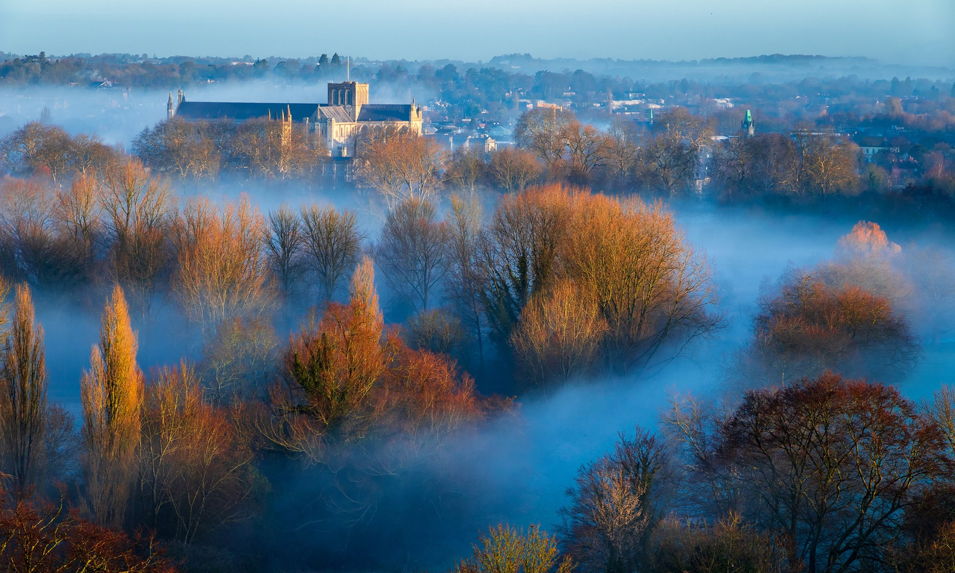 Winchester during a Season of mists . . . (click to enlarge)