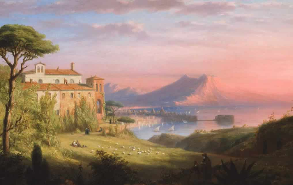 The Bay of Naples, c.1830, by Robert Walter Weir (Museum of Fine Arts,         Boston)