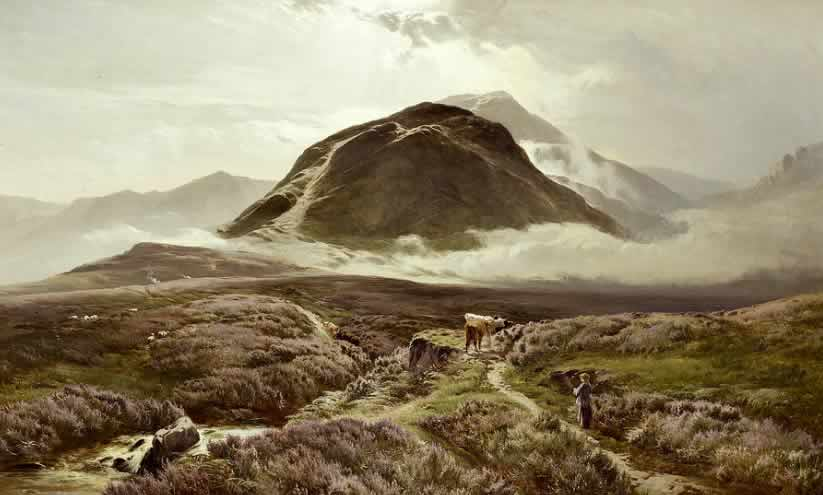 Ben Nevis, with Cairn Dearg in the foreground, by Sidney Richard Percy,         1874