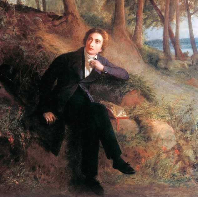 Keats listening to a nightingale, by Joseph Severn, c.1845 (Keats House, City of         London)
