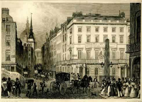 The entrance to Ludgate Hill from Fleet Street.