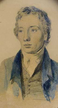 Tom Keats, by Joseph Severn (Keats-Shelley House, Rome)