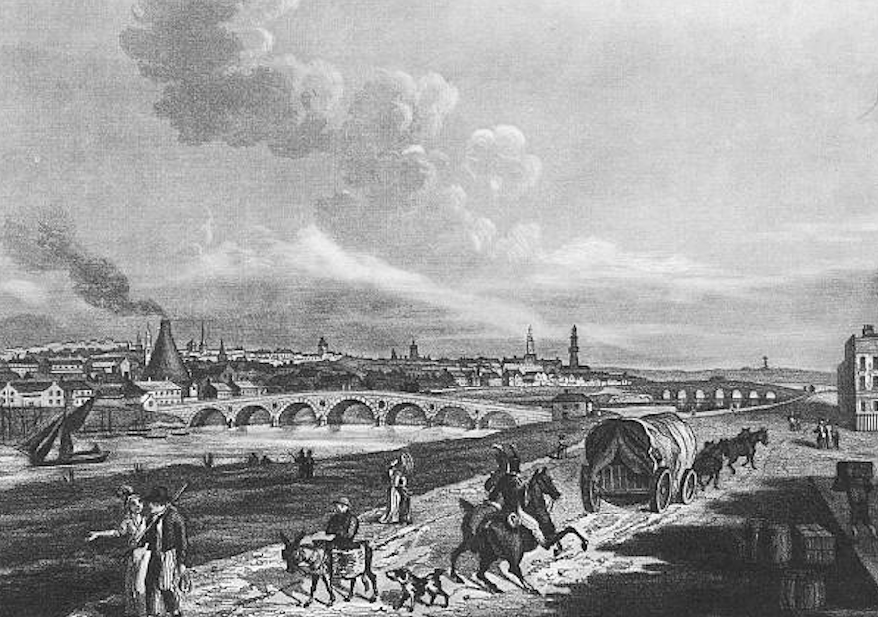 Banks of the Clyde, Glasgow, 1817