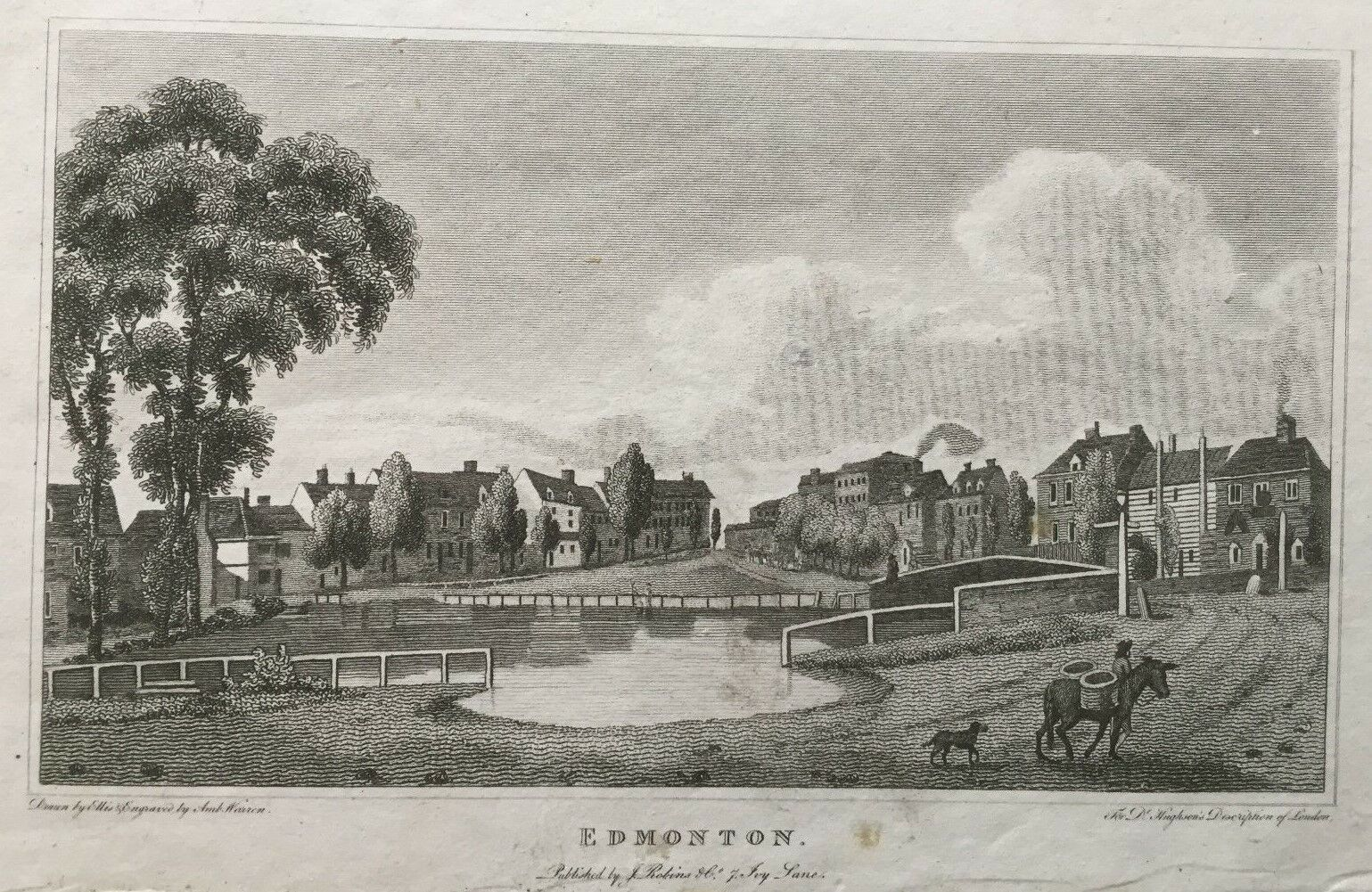 Edmonton, 1806; where Keats and his siblings move after 1805, with their         grandmother. Click to enlarge.