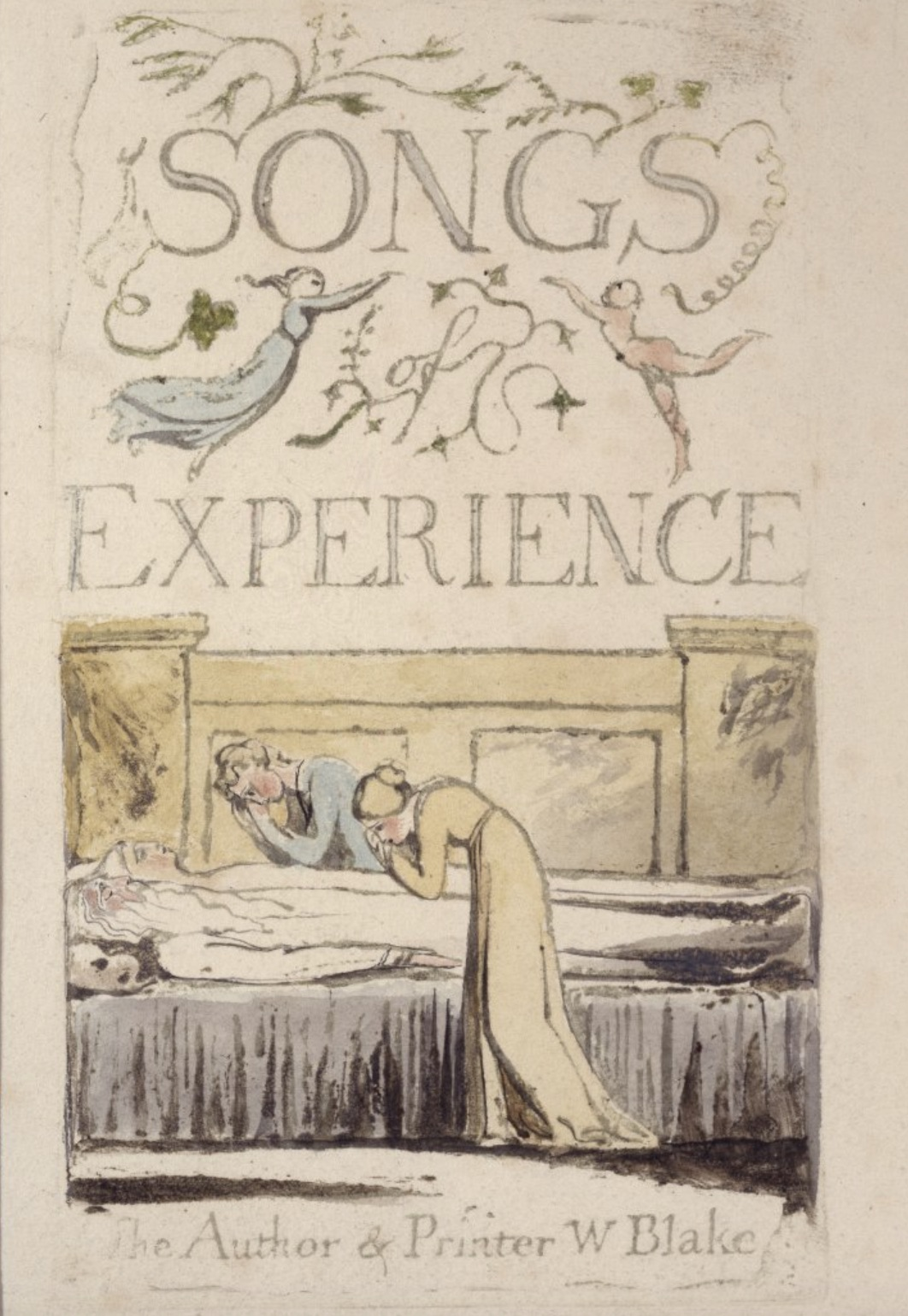 Title page of Blake's Songs of  Experience,         published 1794 (copy A, plate 29, British Museum 1924,0726.2.1)