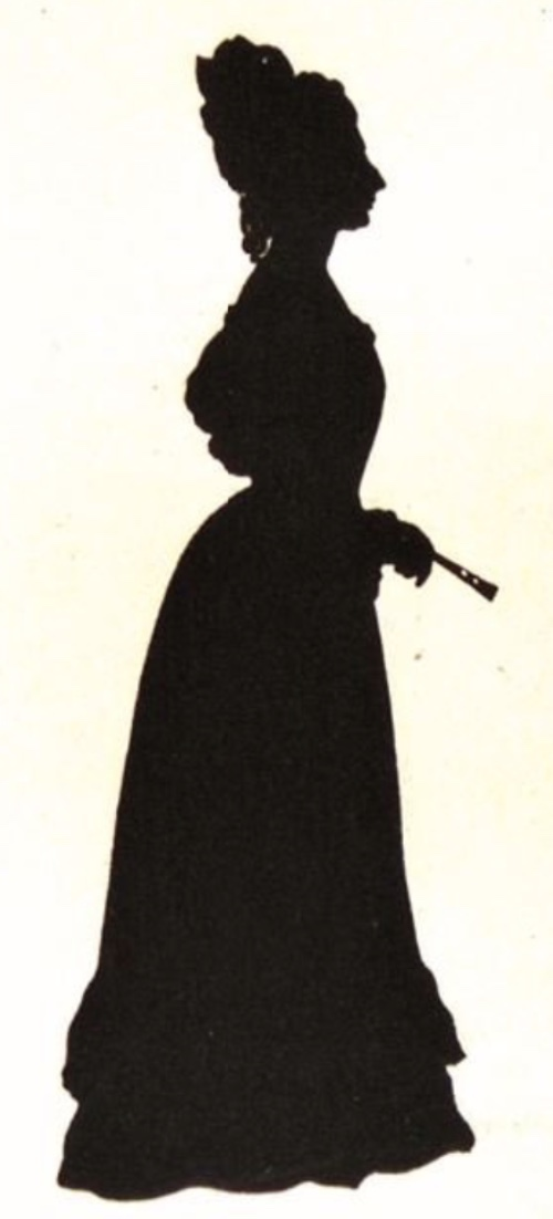 Fanny Brawne, 1823. Copy of original silhouette, Keats-Shelley House, Rome