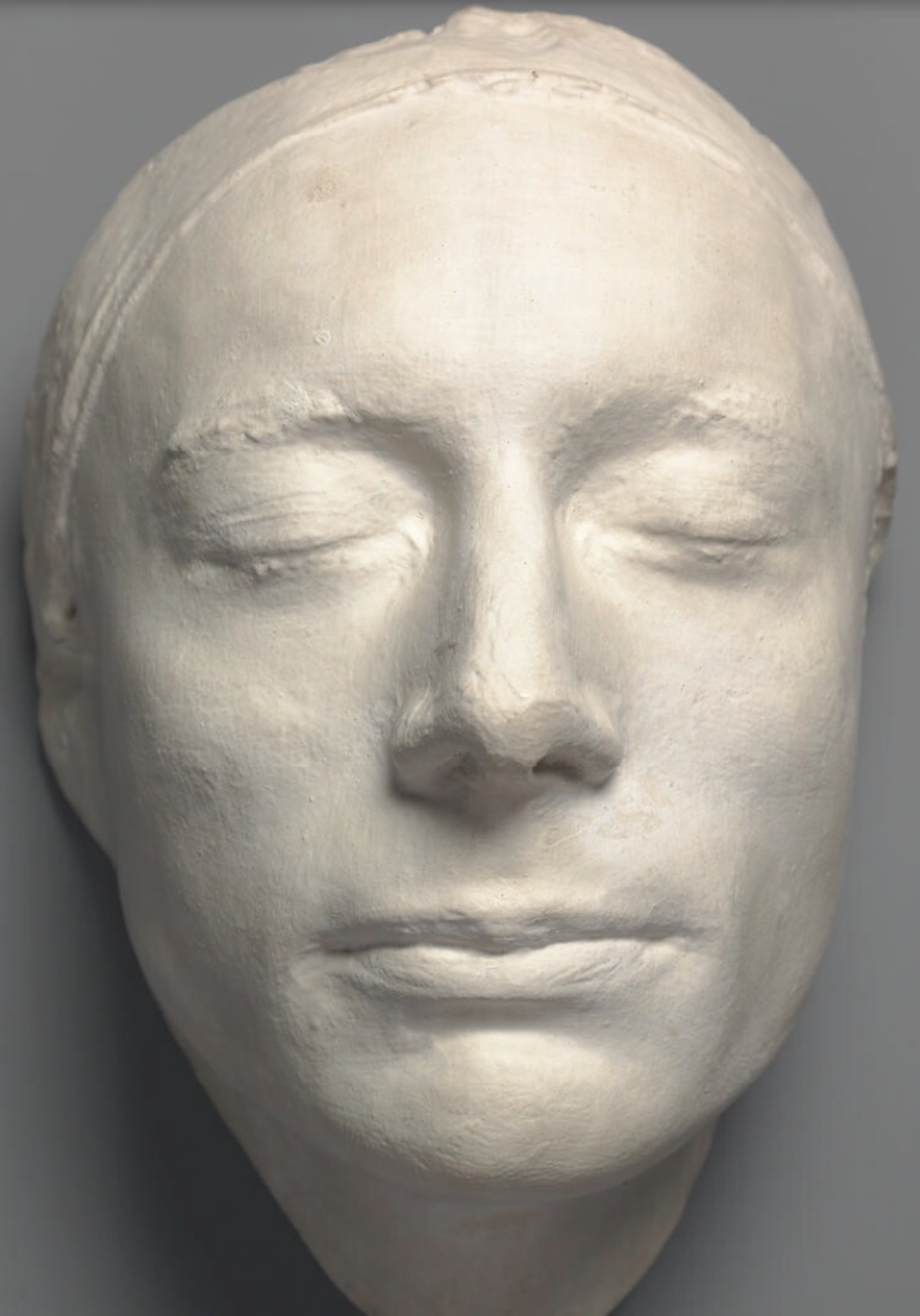 Plaster cast of Keats's life-mask, by Haydon, 1816 (National Portrait Gallery,         NPG 686). Click to enlarge.