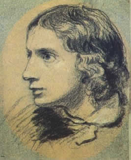 Charcoal drawing of Keats by Joseph Severn, c.1820, Victoria & Albert         Museum