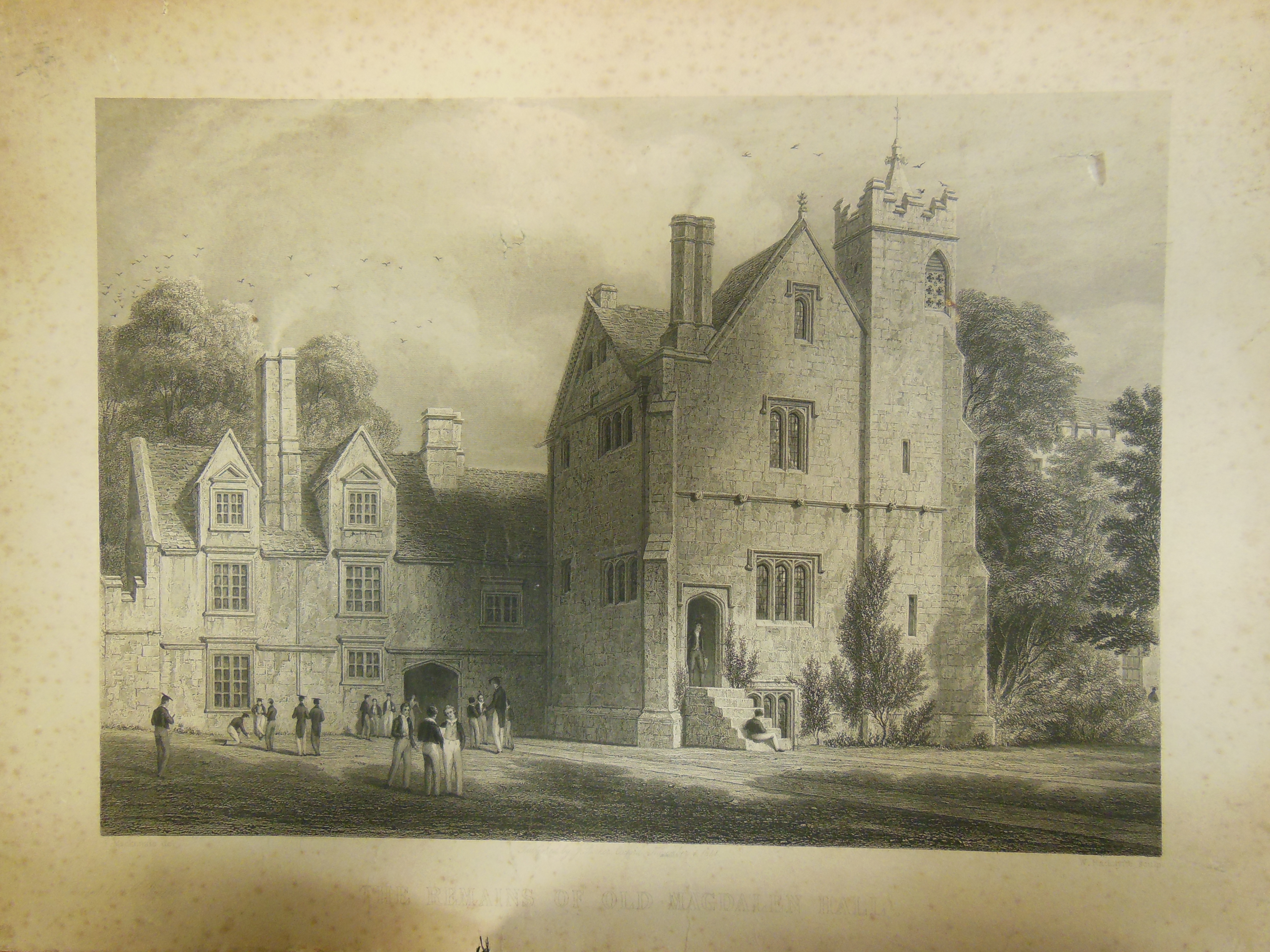 Magdalen Hall. My thanks to Lucy Rutherford (Assistant Archivist, Hertford         College) for this image. Click to enlarge.