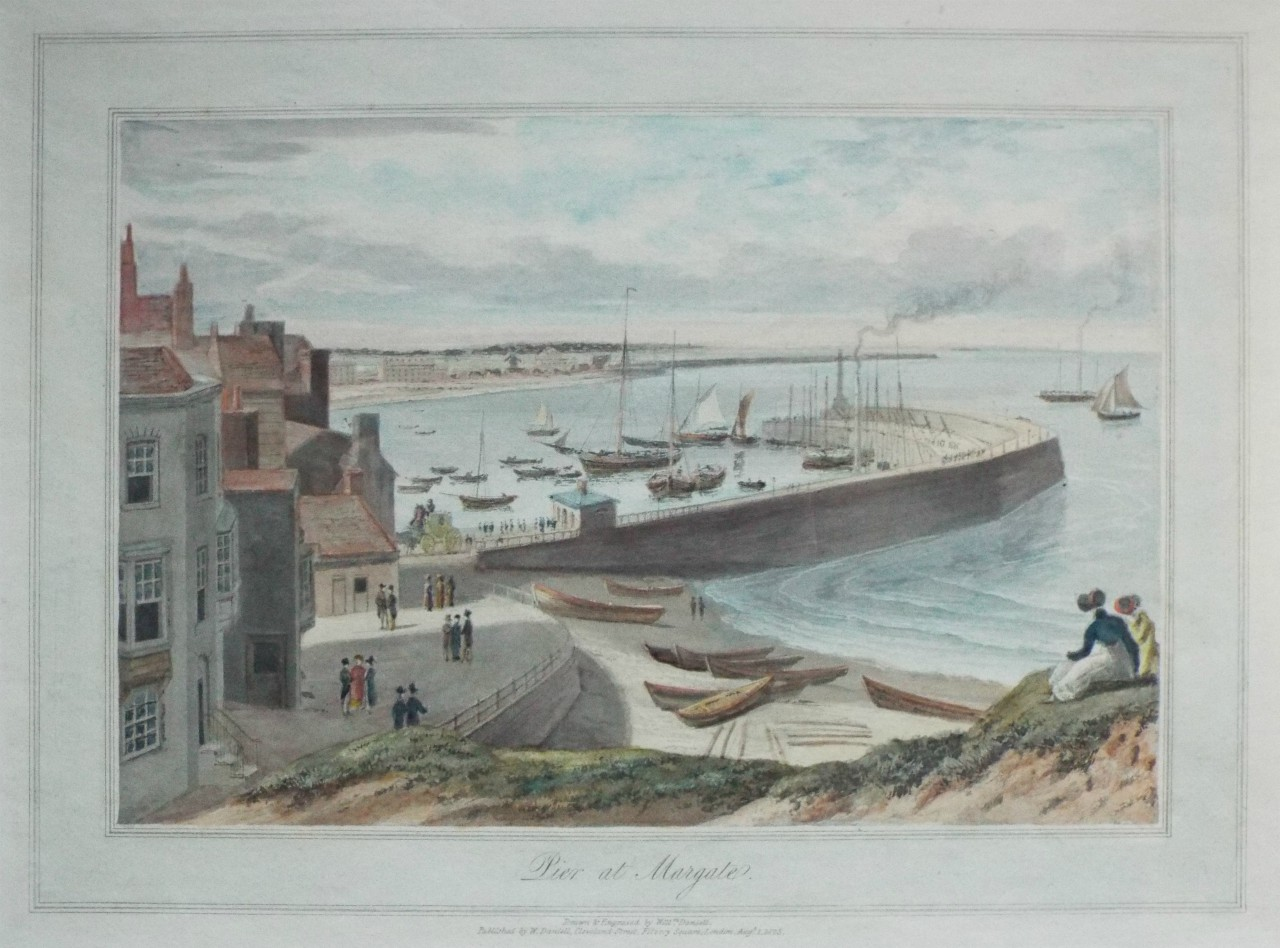 Margate, 1823. Keats took some measure of the sea from a cliff. Click to         enlarge.