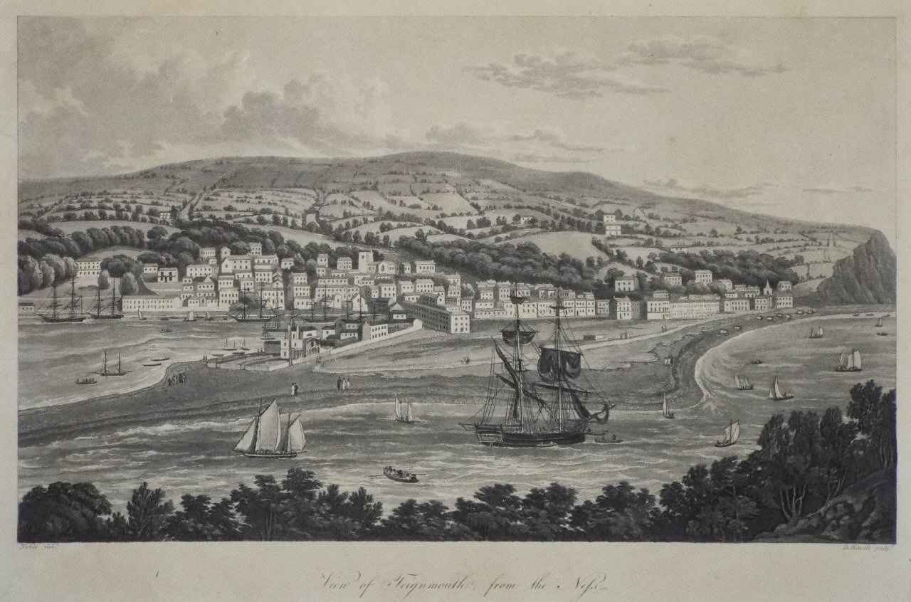 View of Teignmouth, from the Ness, 1817, published E. Croydon, Teignmouth Library         (click to enlarge)