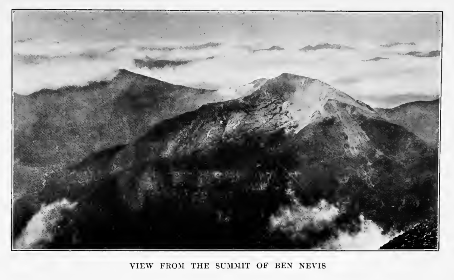 View from the Summit of Ben Nevis, in Albert Elmer Hancock's 1908 life of Keats         (click to enlarge)