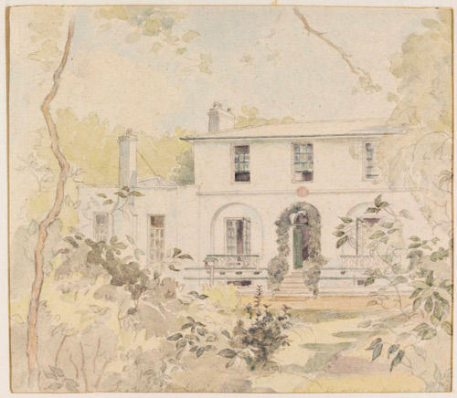 Wentworth Place (Keats House), by I. S. Williams, c.1940 (Victoria & Albert           Museum)